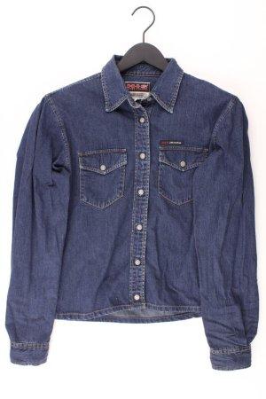 Blouse en jean bleu-bleu fluo-bleu foncé-bleu azur