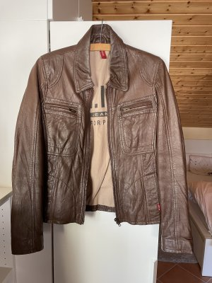 H.I.S Faux Leather Jacket bronze-colored-light brown