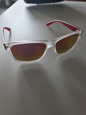 H.I.S Angular Shaped Sunglasses white-red