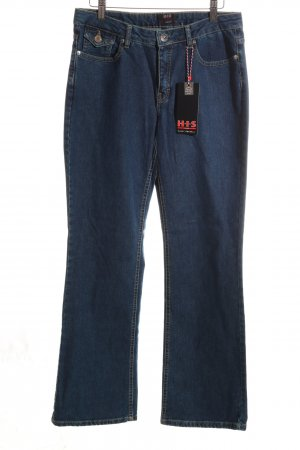 H.I.S Straight-Leg Jeans blau Casual-Look