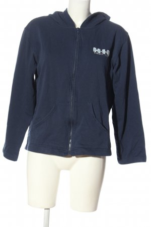 H.I.S Sweat Jacket blue-white embroidered lettering casual look