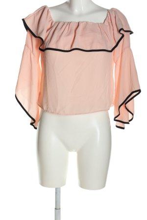 H.liesel Carmen Blouse pink-black casual look
