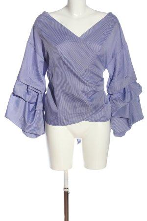H.liesel Blouse portefeuille violet imprimé allover style décontracté