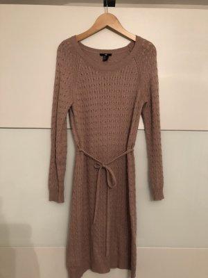 H&M Gebreide jurk beige