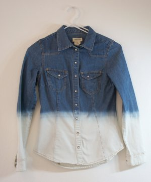 H&M 2-farbige Jeansbluse; Gr. S