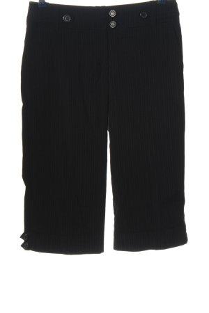H&M Pantalone a 3/4 nero motivo a righe stile casual