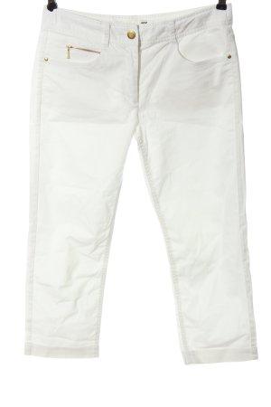 H&M Pantalon 3/4 blanc style décontracté