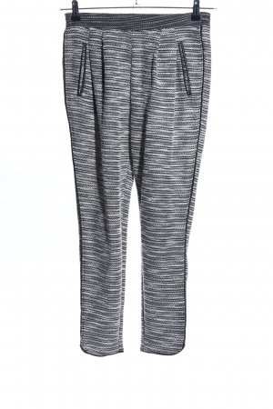 H&M Pantalon de jogging gris clair-noir motif rayé style décontracté