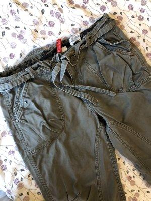 H&M Divided 3/4 Length Trousers green grey-khaki