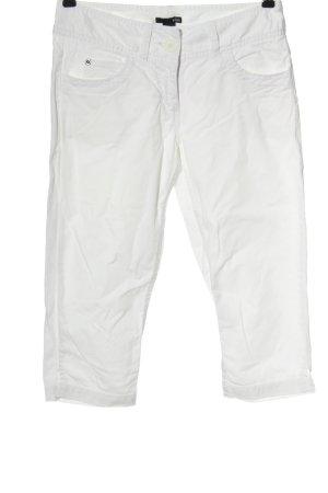 H&M Jeansy 3/4 biały W stylu casual