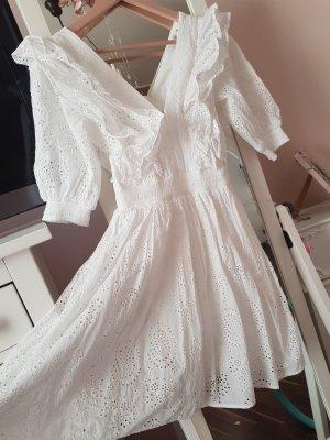 H&M Conscious Exclusive Sukienka z falbanami biały