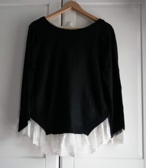 H&M Divided Jersey largo negro-blanco
