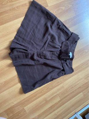 H&M High Waist Trousers dark brown