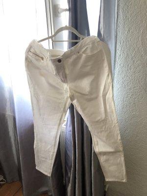 H&M Pantalon cargo crème