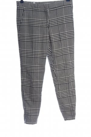 H&M 7/8-Hose schwarz-weiß Karomuster Business-Look