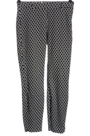 H&M 7/8-Hose schwarz-weiß Allover-Druck Casual-Look