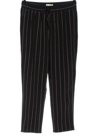 H&M 7/8-Hose schwarz-weiß Streifenmuster Casual-Look