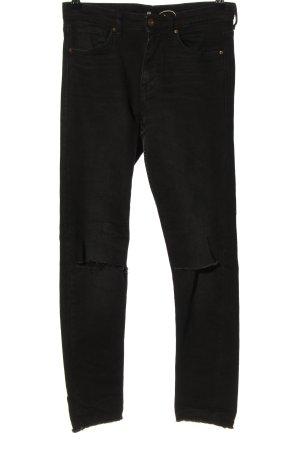 H&M Jeansy 7/8 czarny W stylu casual