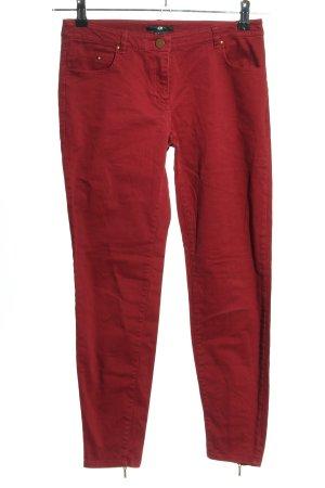 H&M Jeansy 7/8 czerwony W stylu casual