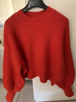 H&M Premium Jersey holgados rojo ladrillo