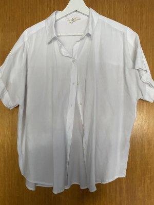 H&M Chemise à manches courtes blanc
