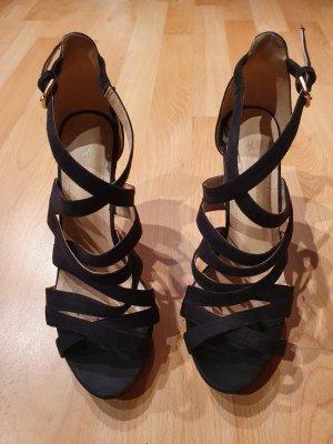 H&M Hoge hakken sandalen zwart