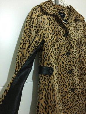 H&M Short Coat beige-black