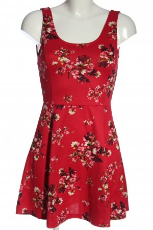 H&M A-Linien Kleid rot Allover-Druck Casual-Look