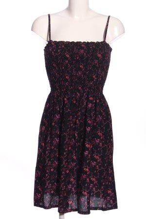 H&M A-Linien Kleid schwarz-lila Allover-Druck Casual-Look