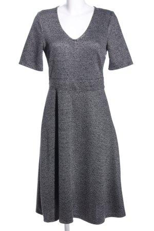 H&M A-Linien Kleid hellgrau meliert Business-Look
