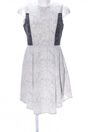 H&M A-Linien Kleid wollweiß-schwarz abstraktes Muster Casual-Look