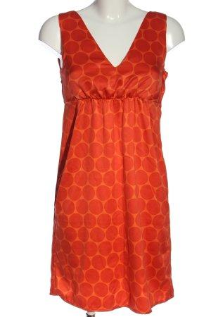H&M Blusenkleid hellorange-rot Punktemuster Casual-Look