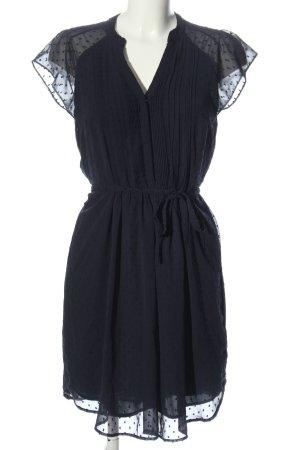 H&M A-Linien Kleid blau Punktemuster Elegant