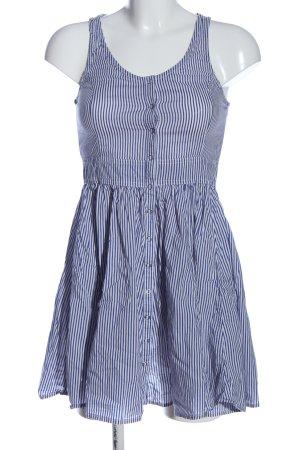 H&M A-Linien Kleid blau-weiß Streifenmuster Casual-Look