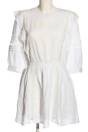 H&M A-Linien Kleid weiß Casual-Look