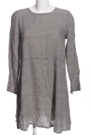 H&M A-Linien Kleid weiß-schwarz Karomuster Casual-Look