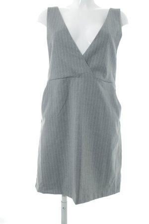 H&M A-Linien Kleid grau Nadelstreifen Business-Look