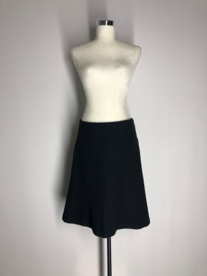 H&M Wool Skirt black cotton