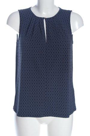 H&M A-lijn top blauw-zwart abstract patroon casual uitstraling
