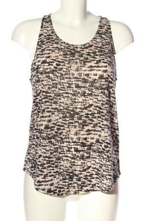 H&M Top o kroju litery A kremowy-czarny Na całej powierzchni W stylu casual