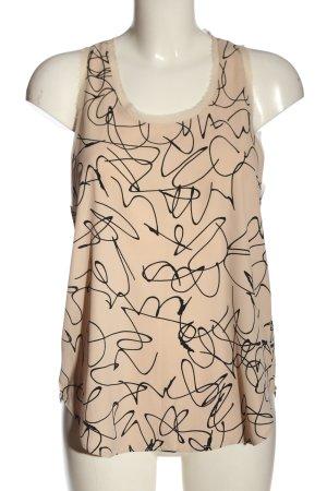 H&M Top o kroju litery A nude-czarny Abstrakcyjny wzór W stylu casual