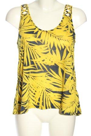 H&M Top o kroju litery A bladożółty-niebieski Na całej powierzchni