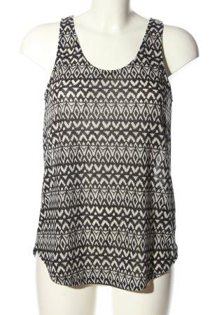H&M Top o kroju litery A czarny-biały Na całej powierzchni W stylu casual