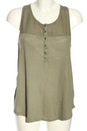 H&M A-Linien Top khaki meliert Casual-Look