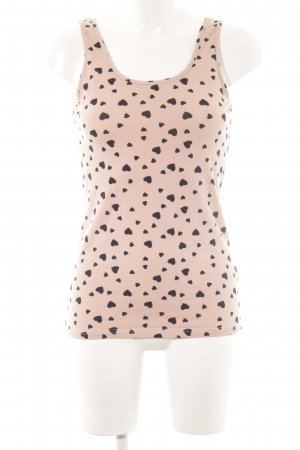 H&M Top o kroju litery A różowy-czarny Na całej powierzchni W stylu casual