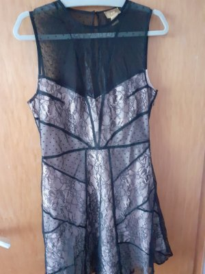 H&M Abend Spitzen Kleid mit Mesh Einsatz