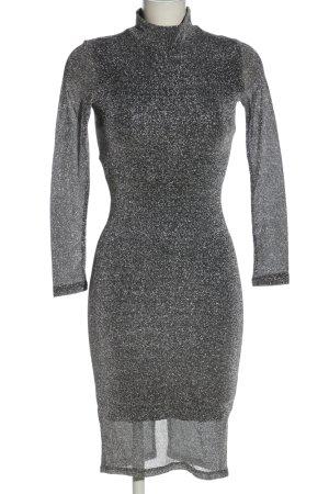 H&M Abendkleid silberfarben meliert Elegant
