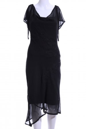 H&M Abendkleid schwarz Blumenmuster Elegant