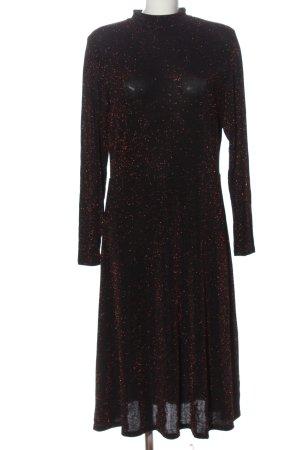 H&M Abendkleid schwarz Glanz-Optik