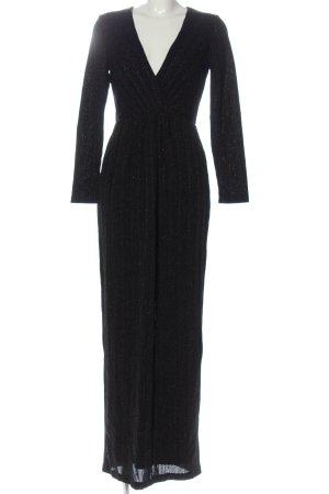 H&M Abendkleid schwarz meliert Elegant